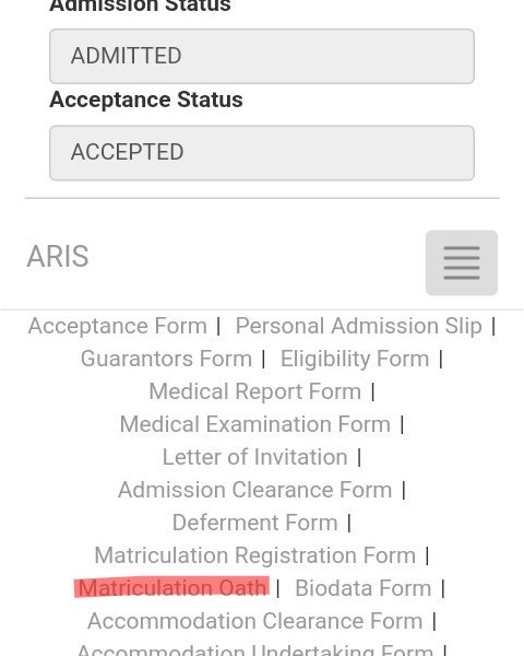 How to check for Uniport matriculation number