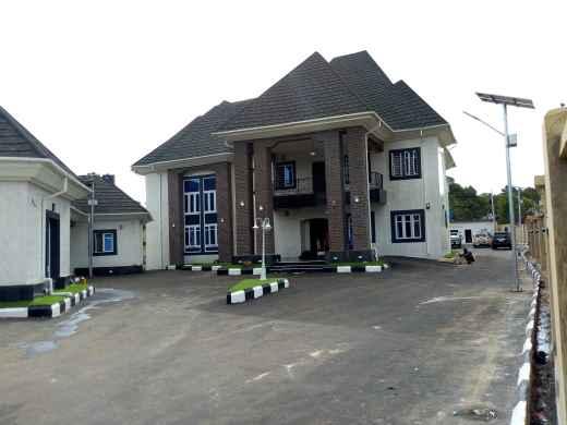 Emmanuel Onyeke Mansion Front view