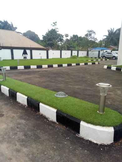 Emmanuel Onyeke Mansion car park